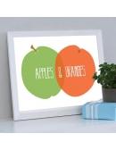 """Plakat """"Apples & Oranges"""""""