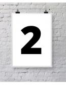 """Plakat """"Two"""" - biały"""