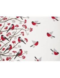 Bawełniana zasłona Ptaki
