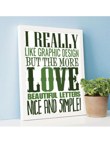 "Plakat ""Like Graphic Design"""