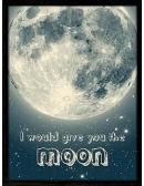 Plakat Moon w drewnianej ramie