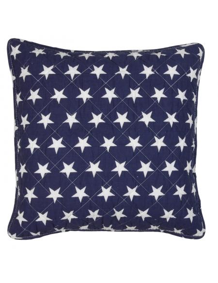 Poszewka na poduszkę w białe gwiazdki