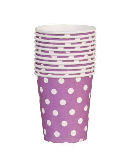 Kubki papierowe fioletowe