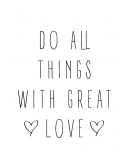 Plakat Do All Things