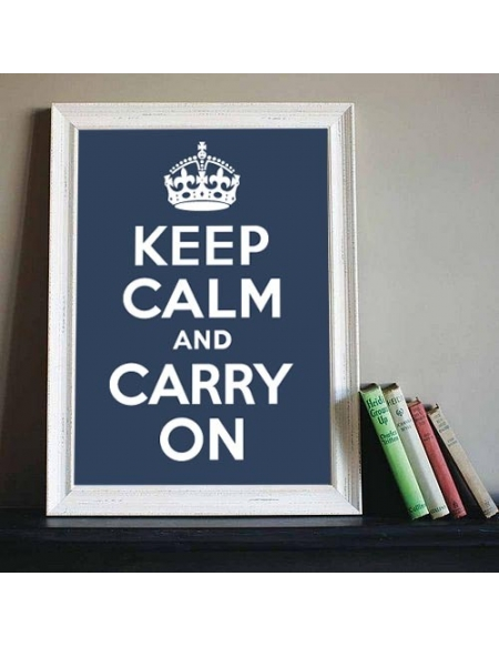 "Plakat ""Keep Calm And Carry On"" - Midnight Blue"