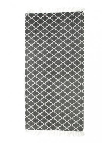 Szary dywan marokańska koniczynka