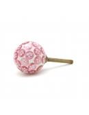 Gałka do mebli różowe guziki