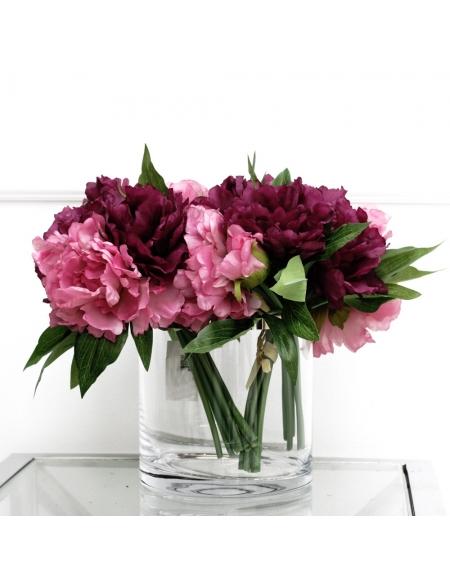 Bukiet Peonia fioletowo-różowa
