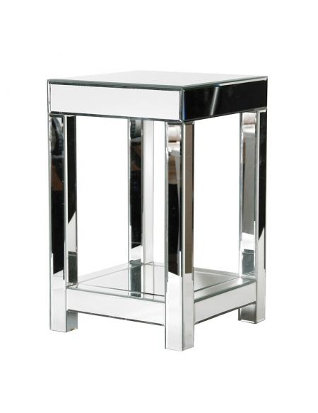 Lustrzany stolik boczny
