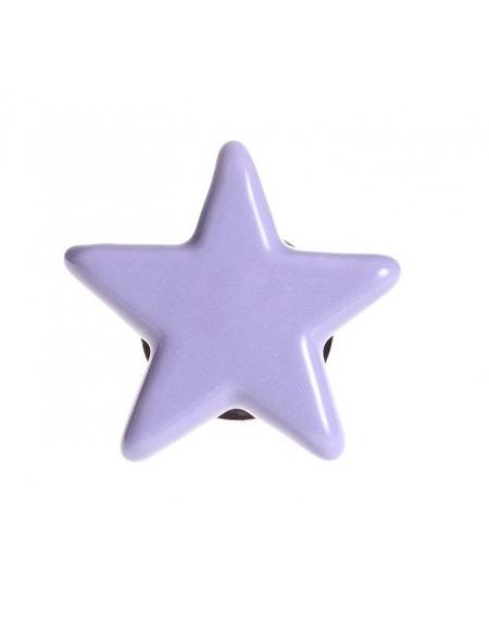 Gałka do mebli gwiazda fioletowa