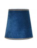 Abażur aksamitny w kolorze niebieskim
