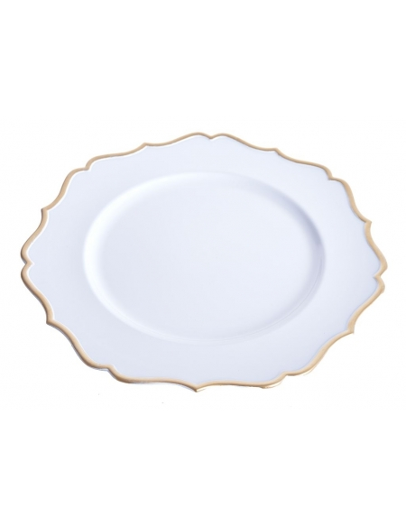 Komplet talerzy Biało-Złotych