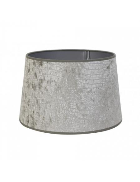 Abażur 25 cm okrągły Velur Srebrny