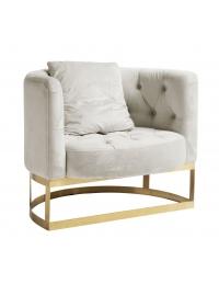 Fotel pikowany Lounge kremowy