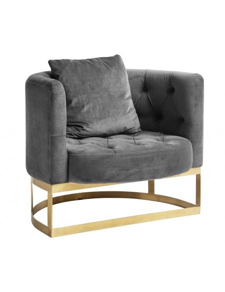 Fotel pikowany Lounge szary