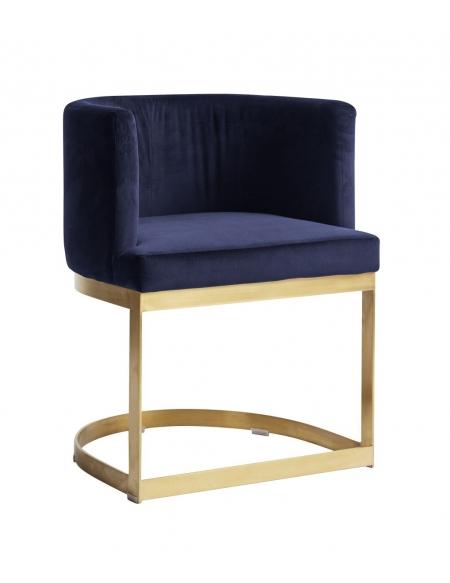 Krzesło Lounge granatowe