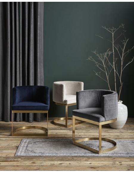 Krzesło Lounge szare