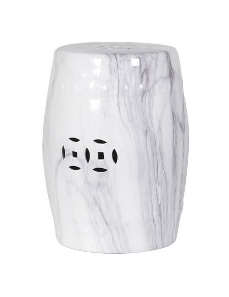Stołek ceramiczny White Marble