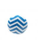 Gałka do mebli chevron biało - niebieska