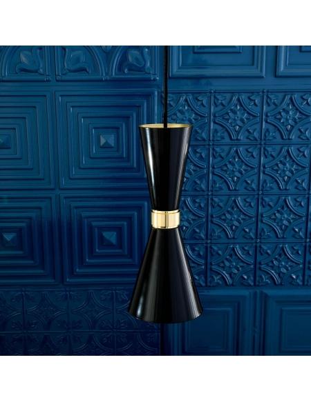 Lampa wisząca czarno-złota