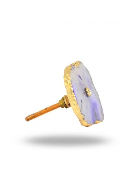 Gałka do mebli Agat Fioletowo-Złoty