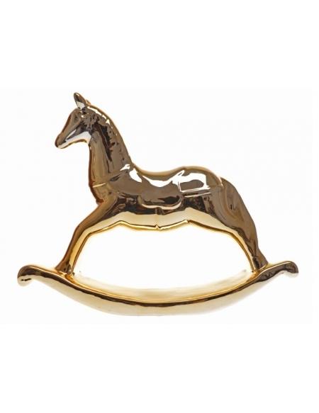 Złoty koń na biegunach
