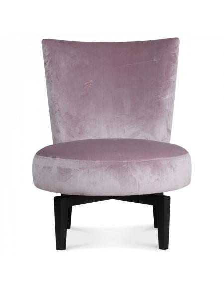 Tapicerowany fotel obrotowy - beżowy