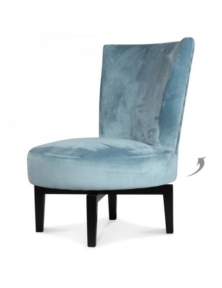 Tapicerowany fotel obrotowy - niebieski