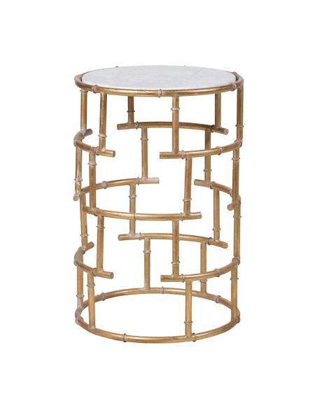 Złoty stolik pomocniczy