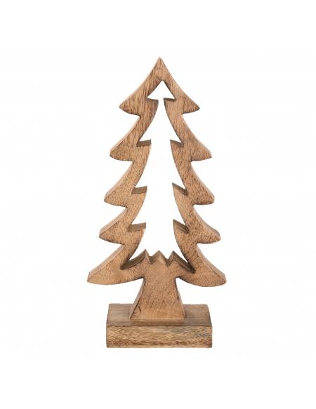 Drewniana choinka świąteczna