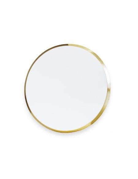 Okrągłe lustro w złotej ramie