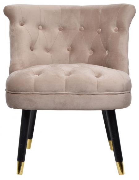 Fotel pikowany beżowy