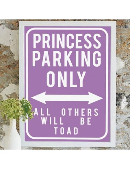 "Plakat ""Princess"" - fioletowy"
