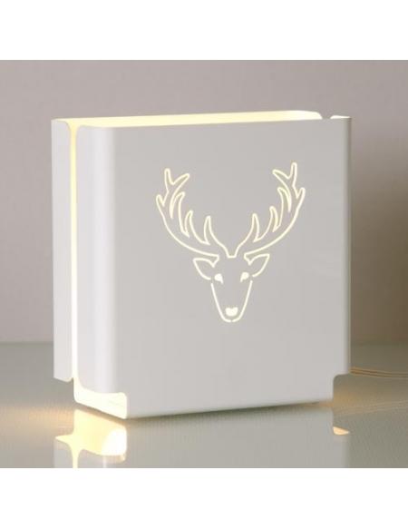 """Lampa stojąca """"Renifer"""" - biała"""