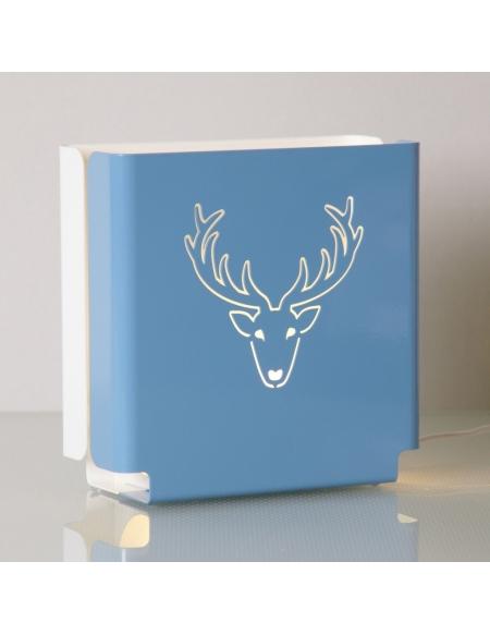 "Lampa stojąca ""Renifer"" - niebieska"