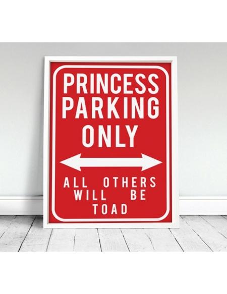 """Plakat """"Princess"""" - czerwony"""