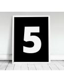 """Plakat """"Five"""""""