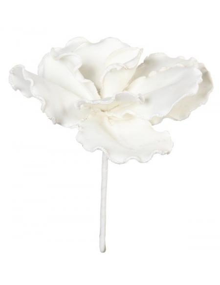 Dekoracyjny kwiat - biały